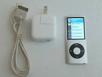 Apple iPod Nano (4th Gen) 8GB Silver A1285 - WORKING - New Music