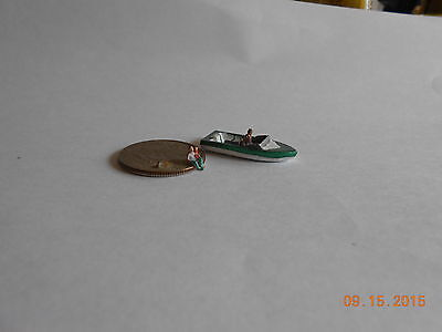 Z SCALE LARGE SPEED BOAT W/O PASSENGER GREEN VEHICLE CASTMETAL FOR TRAIN LAYOUT for sale  Shipping to Canada