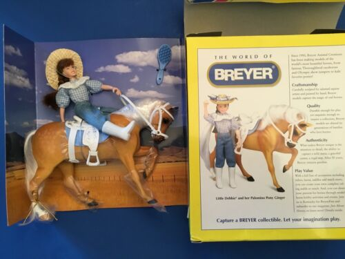 Vintage Breyer Little Debbie Special Edition 2003 Palomino Pony Ginger and Rider