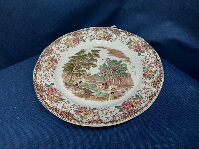 Vintage Barker Bros. Multi Royal Tudor Ware Olde England Individual Dinner Plate