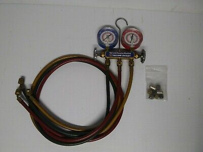 Yellow Jacket Hvac Test And Charging Manifold Flutterless R12 R22 R502 W Hoses