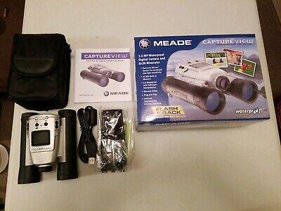 Used, Meade Capture View 3.2 8x30 Integrated Digital Camera Binoculars estate find  for sale  Hartford