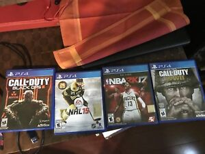 Ps4 games: cod world war 2 and black ops3