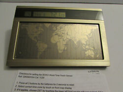 Seiko World Time Touch Sensor Desk Clock