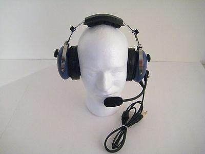 Skylite SL-900C Blue Aviation Headset For Youth/Child Free Flight Bag