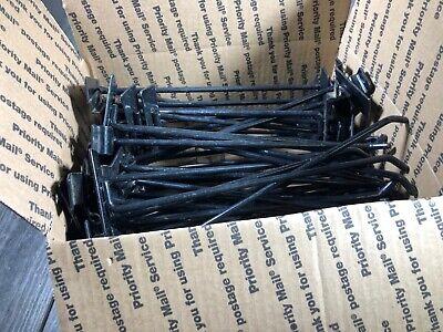 50 Pc 10 Slatwall Hooks Slat Wall Board Shelf Shelving Heavy Duty Black Paint