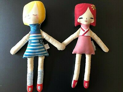"Lot of 2 Land of Nod 18"" Dolls - Pirate Girl & Fia"