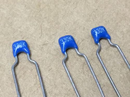 (3 PC)  CORNING  CRC215C0G330K100  Radial Mono Capacitor  100 volts 33uF 10%
