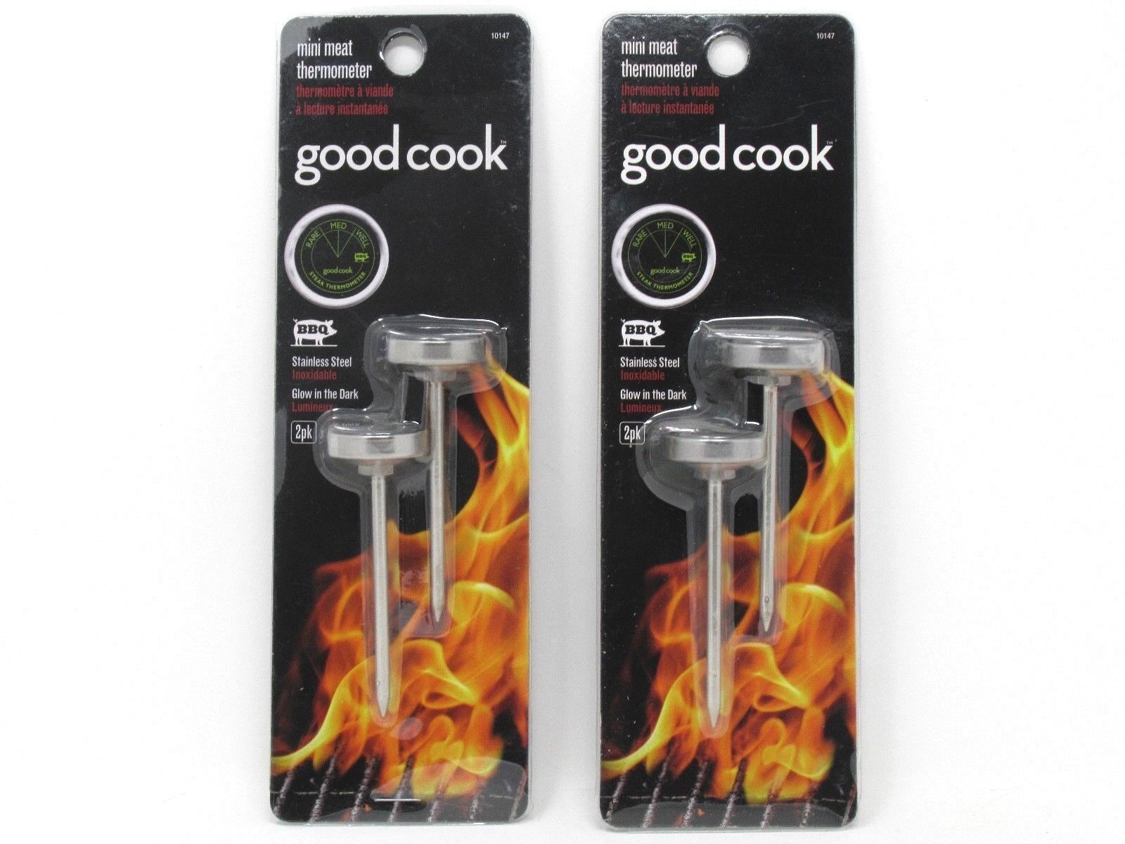 Good Cook Mini Meat Thermometer Glow in the Dark
