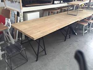 EX DISPLAY - Factory Reclaimed Dining Table 1.98m - NOW ON SALE!! Derrimut Brimbank Area Preview