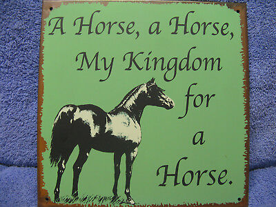 Kingdom Horse Pony Funny HOME DECOR Tin Metal Sign Barn Farm