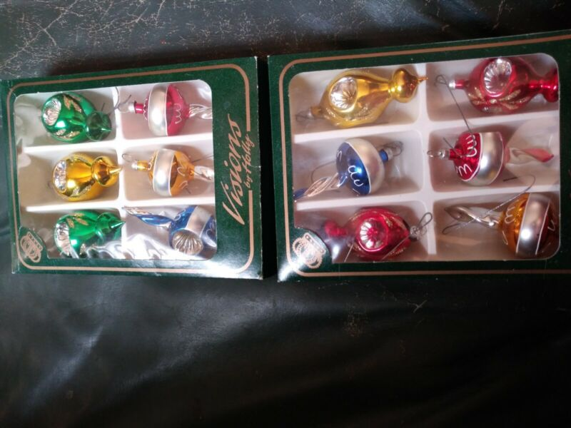 Vintage Visions By Holly Ornaments 2 Box Lot