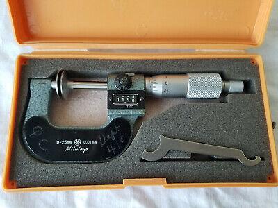 Mitutoyo Disk Micrometer 223-101 Wdigit Counter 0-25mm Range - .01mm Grad