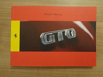 Ferrari 599 GTO Owners Handbook/Manual