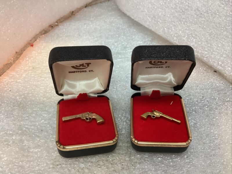 COLT Firearms Factory Gold Plate Tie Tack Lot Of 2(CC7)