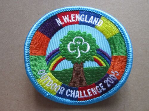 NW England Outdoor Challenge 2005 Girl Guides Cloth Patch Badge L5K D
