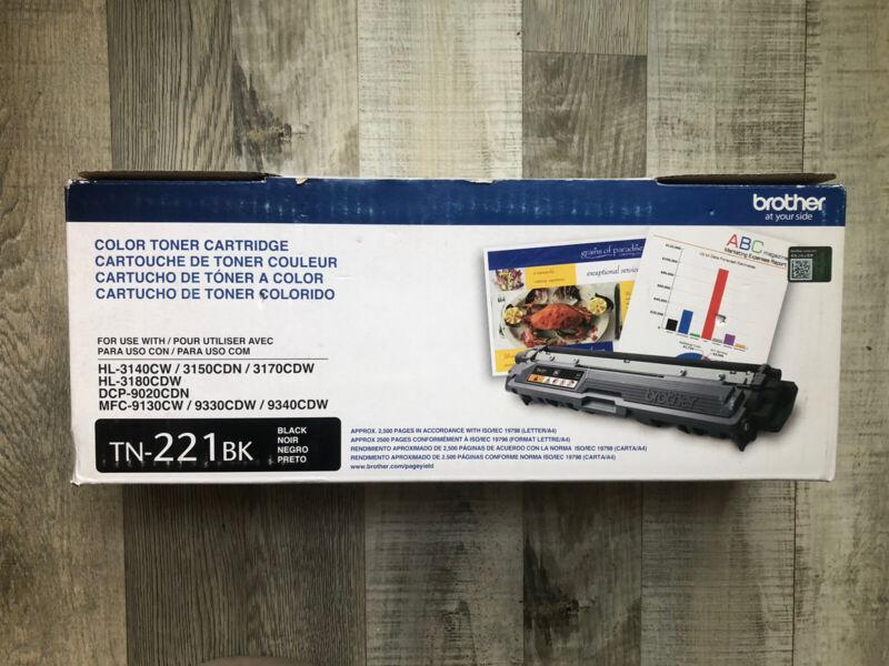 NEW Brother TN221BK Black Toner Cartridge