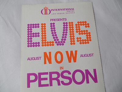 Elvis Original  1970  Las Vegas 8X10 Promo Photo   Intl Hotel August Now