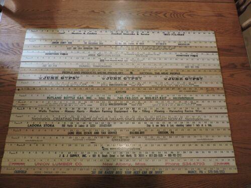 22 Yardstick Wood Wooden Ruler Lot Advertising Sign Color Art Craft Hobby