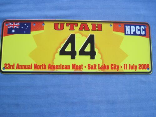 2008 Australian Numbers club license plate. Salt Lake City Utah.
