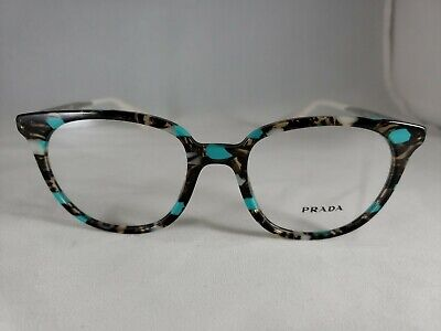 NEW!! Prada VPR 13U KJJ-1O1 Turquoise & Grey Marble Women's Eyeglasses 50*18 140