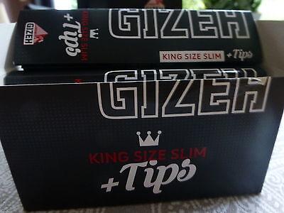 26 x Gizeh  King Size Slim + Tips je 34 Blättchen+Feuerzeug!
