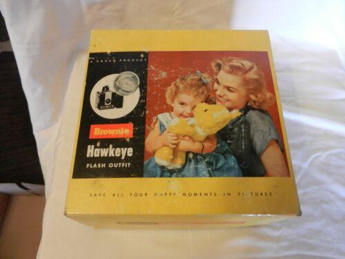 Vintage 1950s Brownie Hawkeye Camera Flash Outfit #177M With Original Box