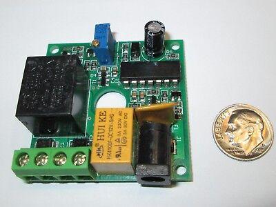 Timer Pc Board Using Ne556n Ic 2 Relays 12vdc  Nos