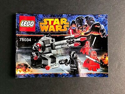 LEGO Star Wars Death Star Troopers Set 75034 w/instructions no minifigures