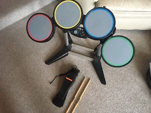 PS3 and or PS2 Drums with Sticks,Pedal,and 2 Games