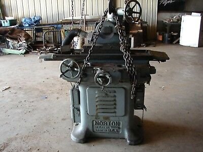 Norton Hydraulic Surface Grinder With 6 X 18 Magnetic Chuck Model 687-a