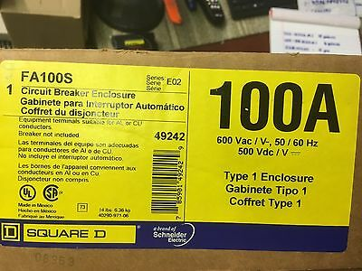 New In Box Fa100s Sqd Circuit Breaker Enclosure 100 Amp Frame Max 600 Volts