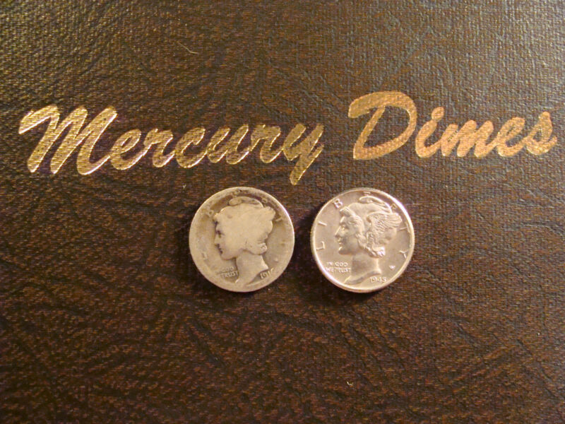 (10) Silver Mercury Dimes Lot 1916-1945 Collection Starter (10 Different Dates!)