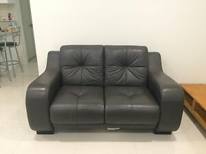 Leather sofas 1 + 2 seater great condition Wakeley Fairfield Area Preview