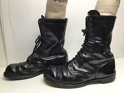 VTG MENS DOUBLE-H WORK BLACK BOOTS SIZE 12 E