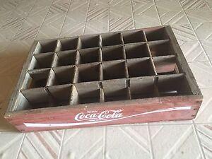Coca Cola antique wooden tray Glamorgan Vale Ipswich City Preview