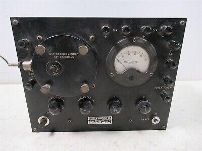 Leeds Northrup 7673 Thermionic Amplifier Vintage Potentiometer Analog Meter