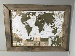Antique Personal Travel Map!