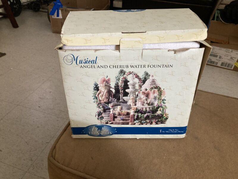 Calssic Treasures Musical Angel And Cherub Water Fountain