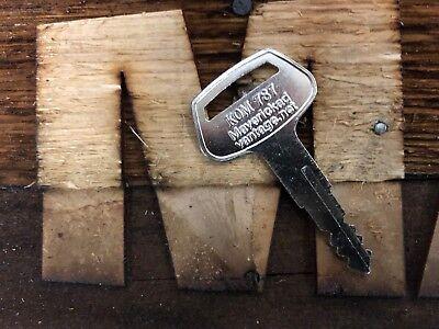 1 Key For Komatsu 787 For Excavator Dozer Loader Backhoe Heavy Equipment