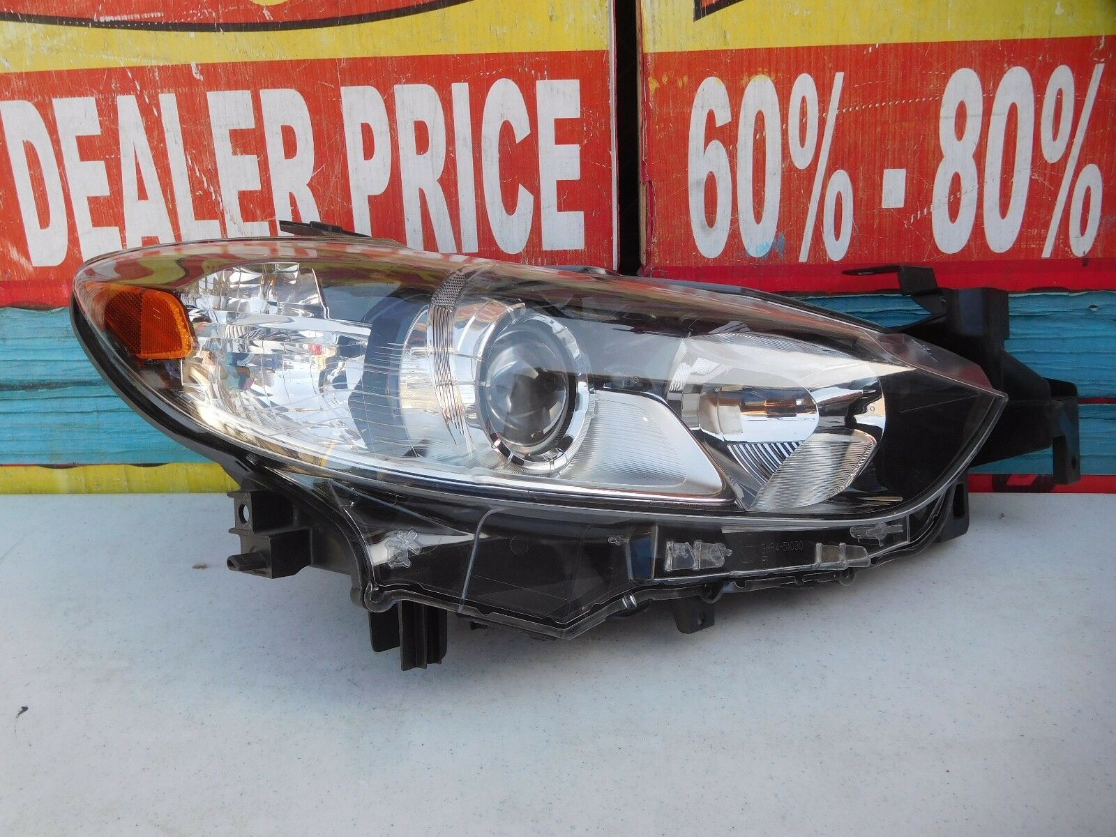 projector halo mazda drl led part headlights smoked headlight with