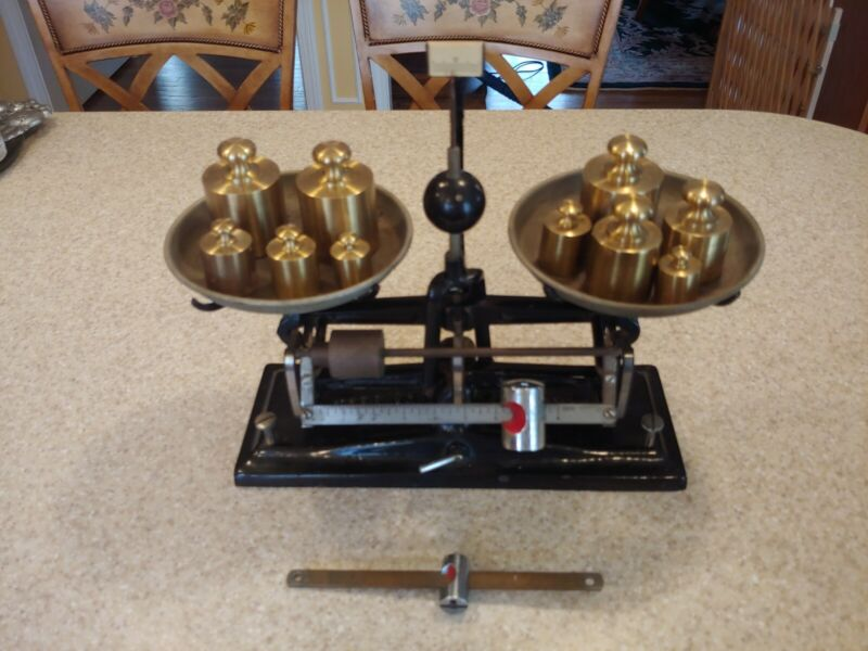 Antique Cast Iron Torsion Balance Co Model 3015 Scale, Great Condition!