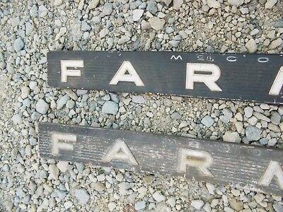 Farmall 504 Rc Ih Tractor Original Chrome Hood Side Emblem Emblems