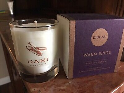 DANI Naturals Warm Spice Candle 60 Hr Burn Time 100% Soy 100 Hr Soy Candle