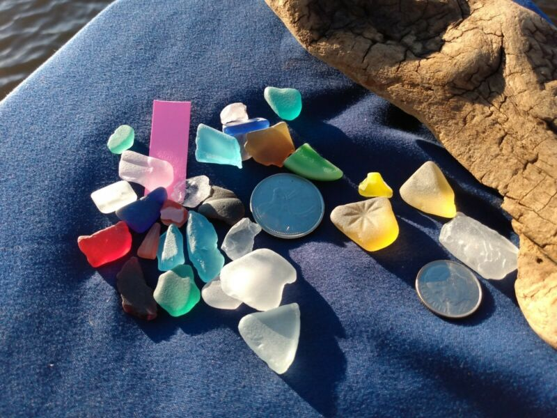 Eastern Shore Vintage Seaglass Tighlman Island Salt Water Surf Tumbled!
