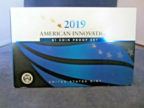 2019-S 4 coin set MIRROR PROOF AMERICAN INNOVATION DOLLAR DE NJ PA GA COA & BOX