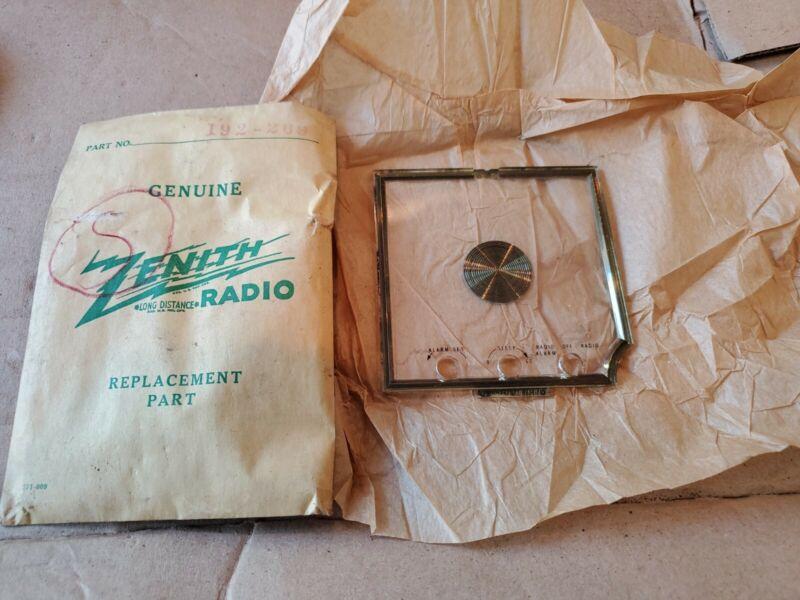 NOS Vintage 1950s Zenith Tube Radio FACE PLATE Calendar Telechron Clock part