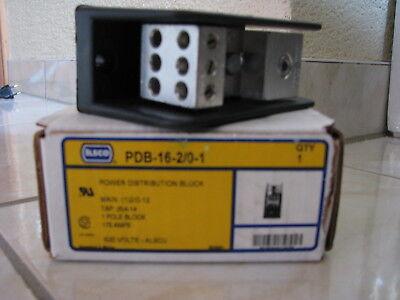 ILSCO Power Distribution Block PDB-16-2/0-1 175 Ampere 600 Volts Power Distribution Block