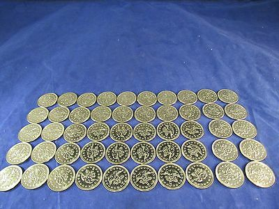 50 Vintage FREEDOM SHIELD Game Arcade NO CASH VALUE  Token Lot Uncirculated NEW!