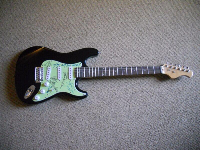 Ozark Mountain Daredevils Signed Autographed x6 W/ Lyrics Guitar PSA Guaranteed